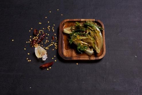 poached salad side